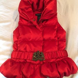 A warm, puffy vest for a princess!